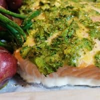 Roasted Lemon Salmon with Green Beans