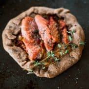 Whole Wheat Leek Salmon Galette