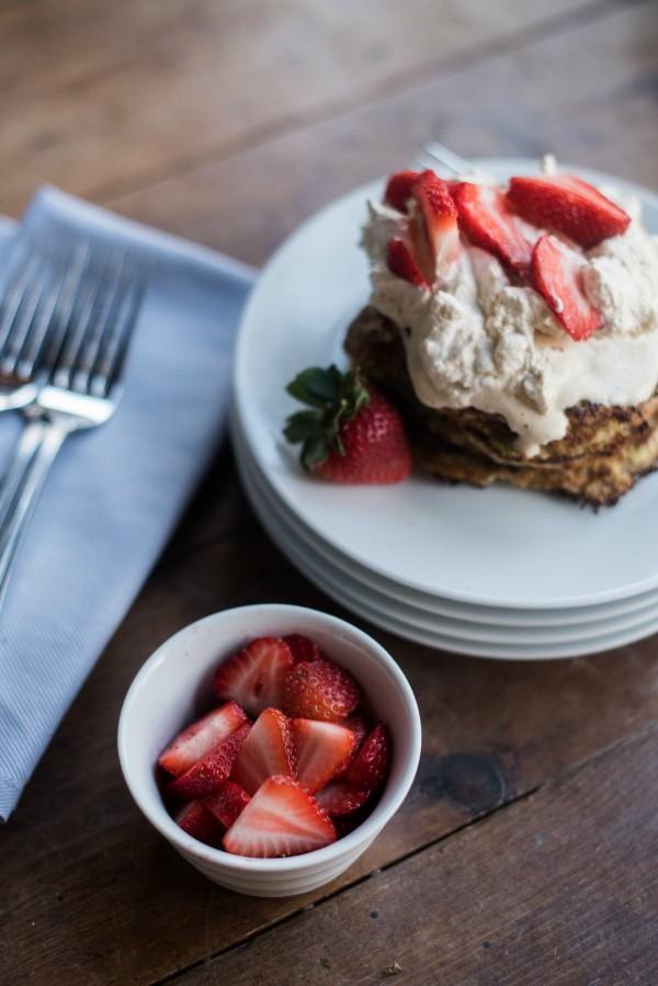 Shredded Zucchini Almond Flour Pancakes