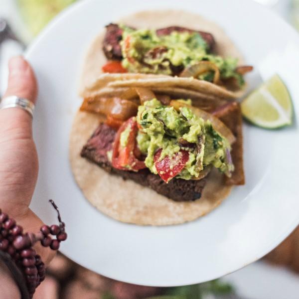Chili Lime Steak Fajita Tacos Recipe