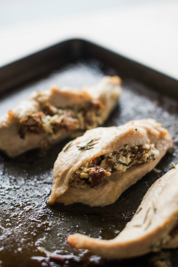 Fig Goat Cheese Rosemary-Stuffed Chicken