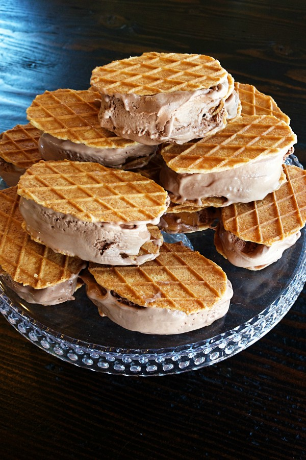Chocolate Peanut Butter Ice Cream Sandwiches