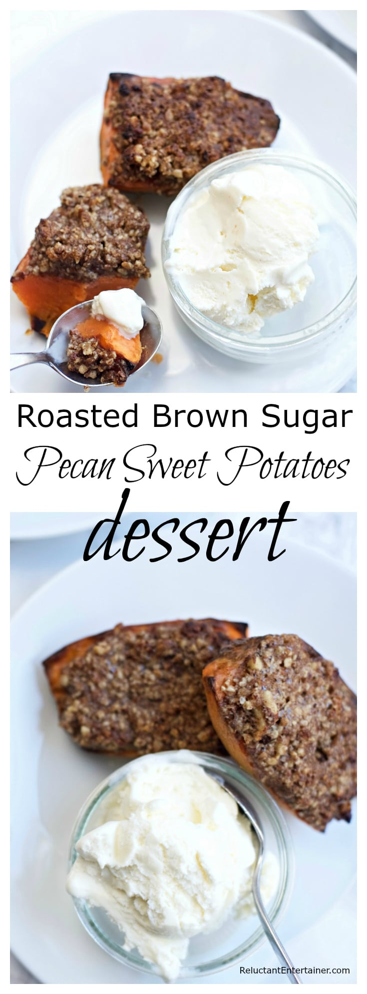 Roasted Brown Sugar Pecan Sweet Potatoes Dessert