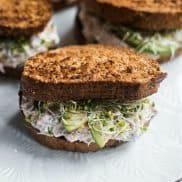 Leftover Lemon Dill Salmon Sandwiches