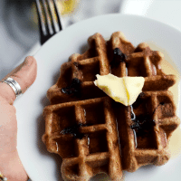 Yeast-Raised Whole Grain Waffles