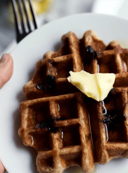 Yeast-Raised Whole Grain Waffles
