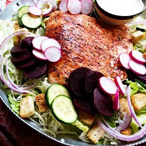 Classic Salmon Caesar Salad Recipe