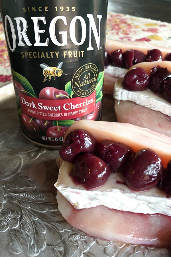 Dark Sweet Cherries Brie-Stuffed Chicken