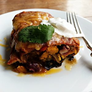 Vegetarian Sweet Potato Bean Enchiladas