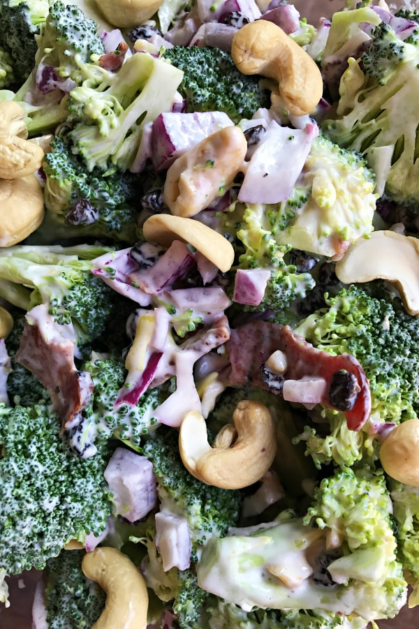 Easy Broccoli Bacon Cashew Salad Recipe