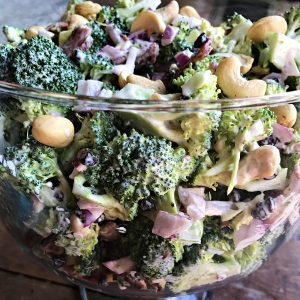 Broccoli Bacon Cashew Salad Recipe
