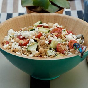Summer Orzo Salad with Garbanzo Beans