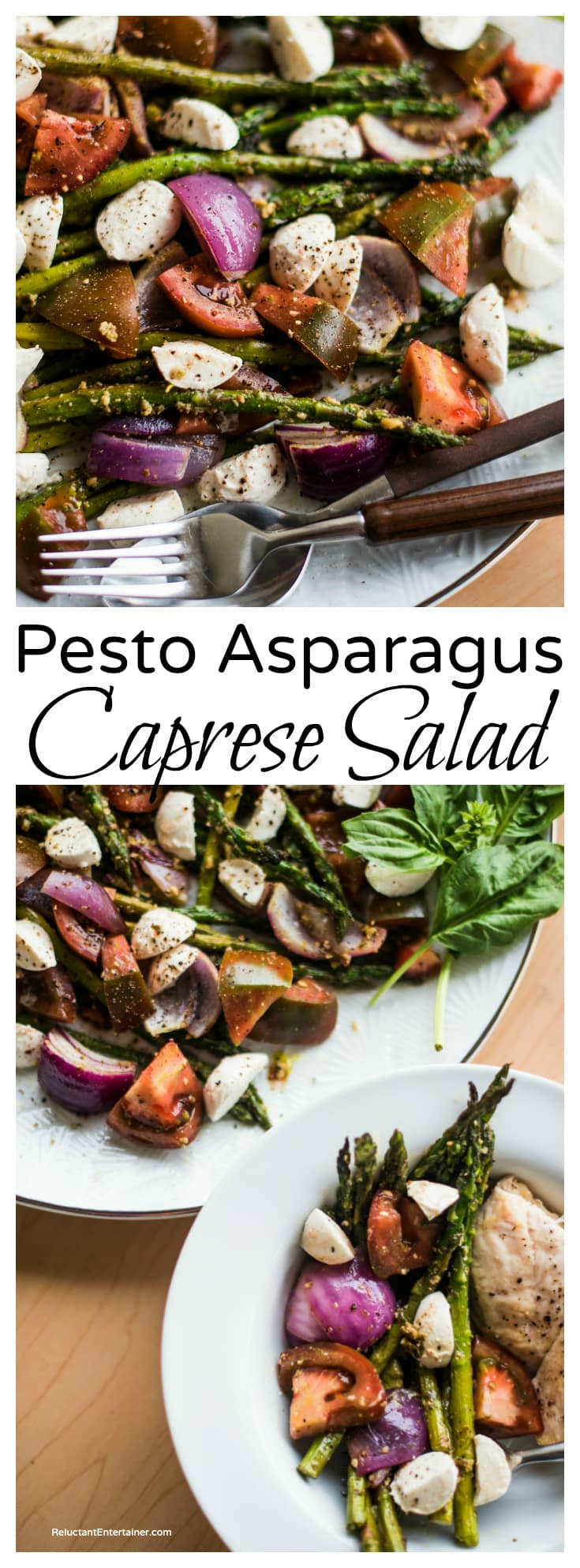 Pesto Asparagus Caprese Salad Recipe