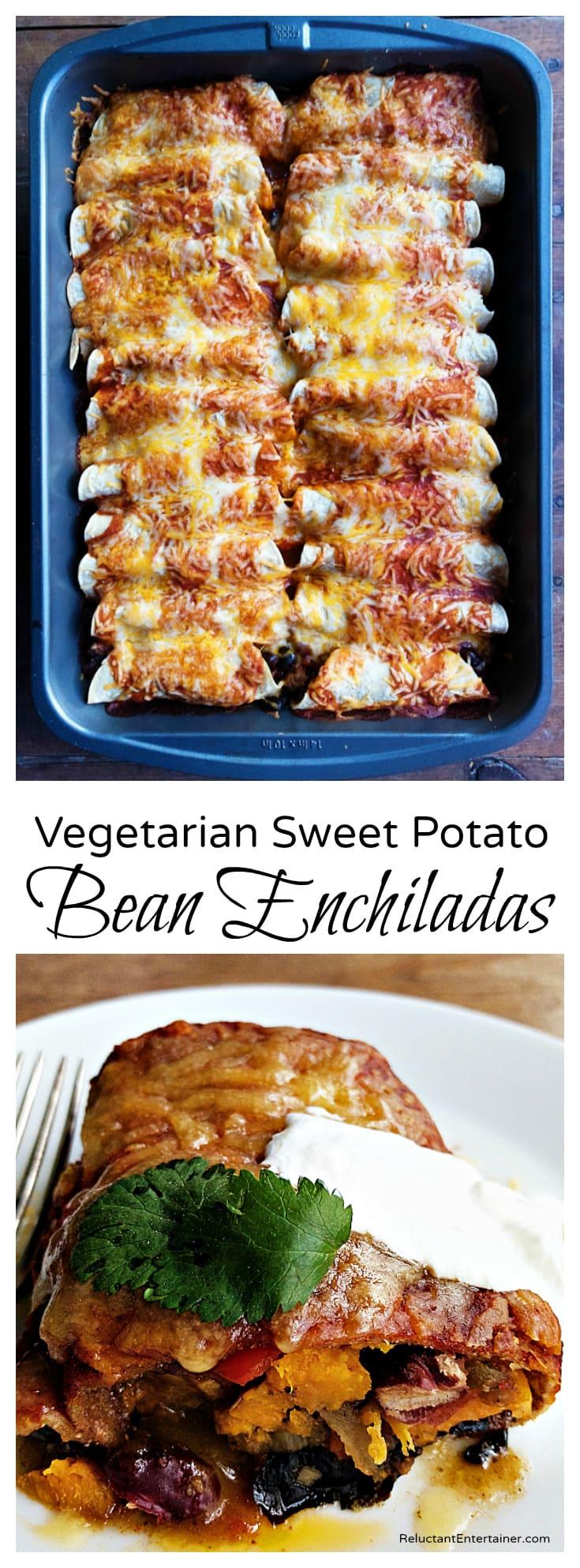 Vegetarian Sweet Potato Bean Enchiladas