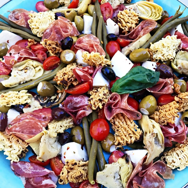 Ramen Antipasto Salad Platter Recipe