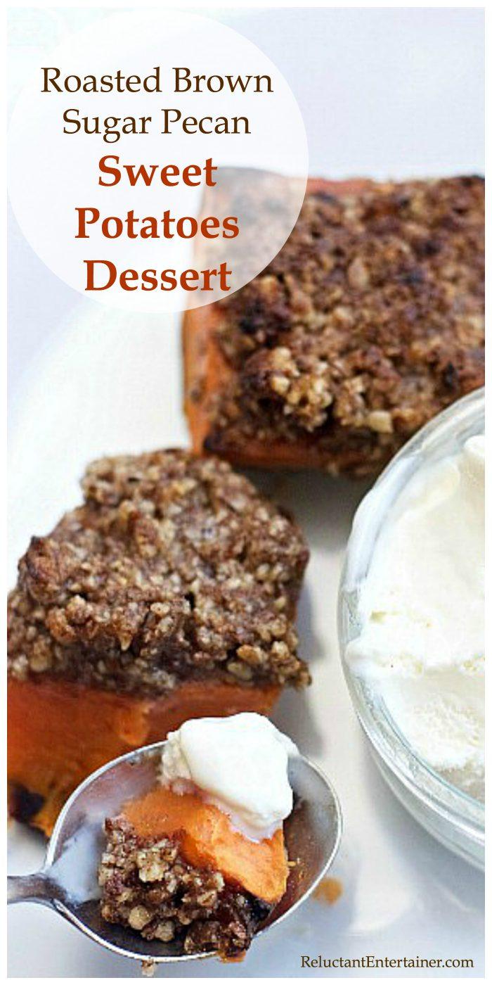 Roasted Pecan Sweet Potatoes Dessert Recipe