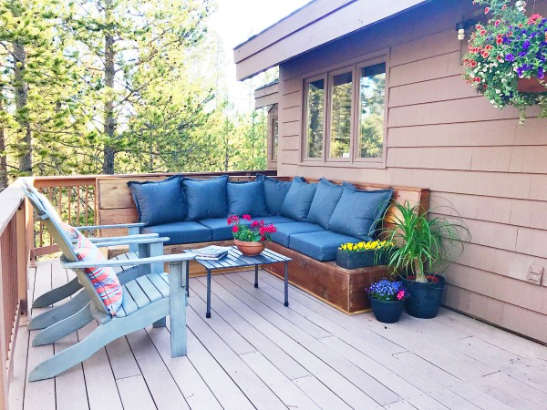Sunset Magazine Inspired DIY Outdoor Sectional