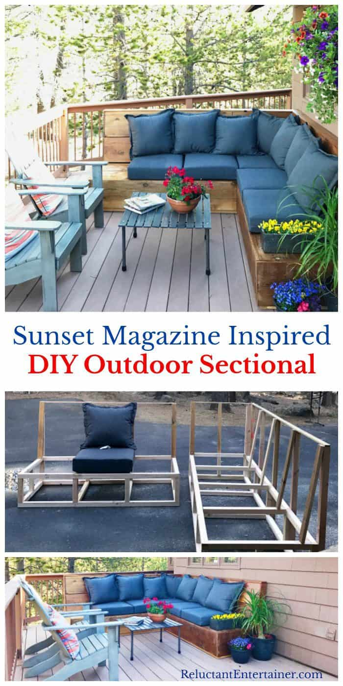 EASY Sunset Magazine Inspired DIY Outdoor Sectional Sofa