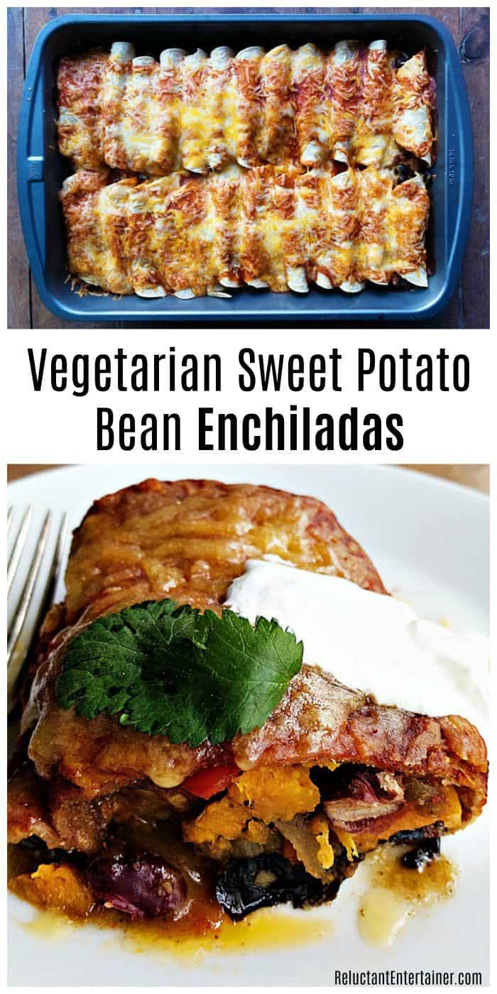 Vegetarian Sweet Potato Bean Enchiladas Recipe