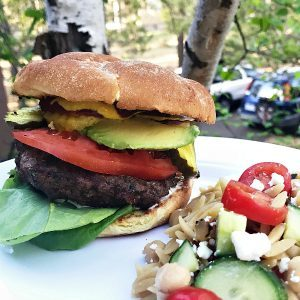 Barbecue Pickled Ginger Burgers