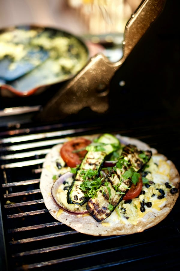 Grilled Zucchini Black Bean Quesadillas