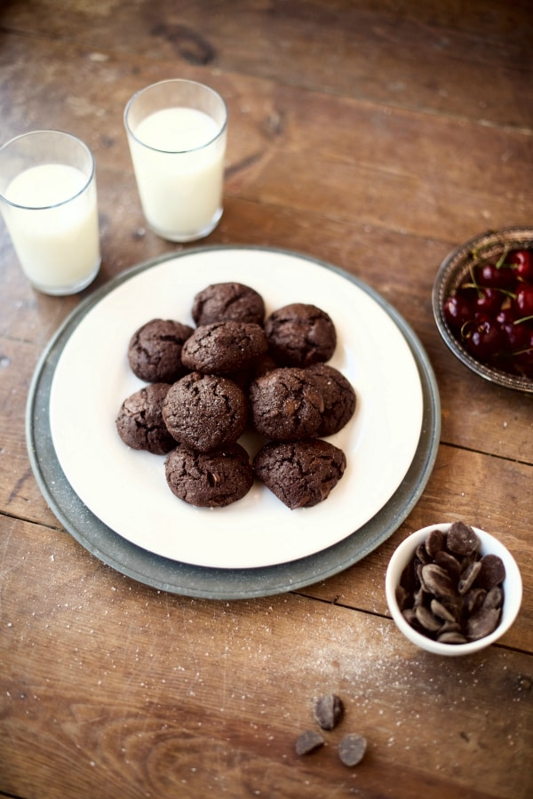 Whole Grain Double Chocolate Brownie Cookies - Reluctant Entertainer