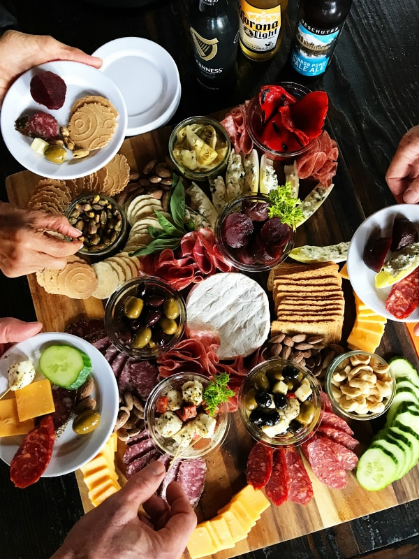 Epic Meat Cheese & Olive Charcuterie Board