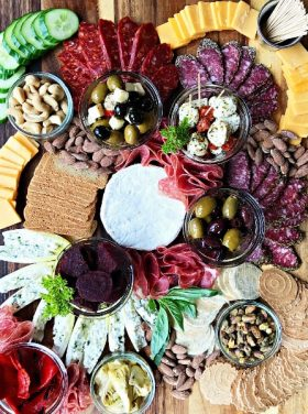 Meat Cheese & Olive Charcuterie Board