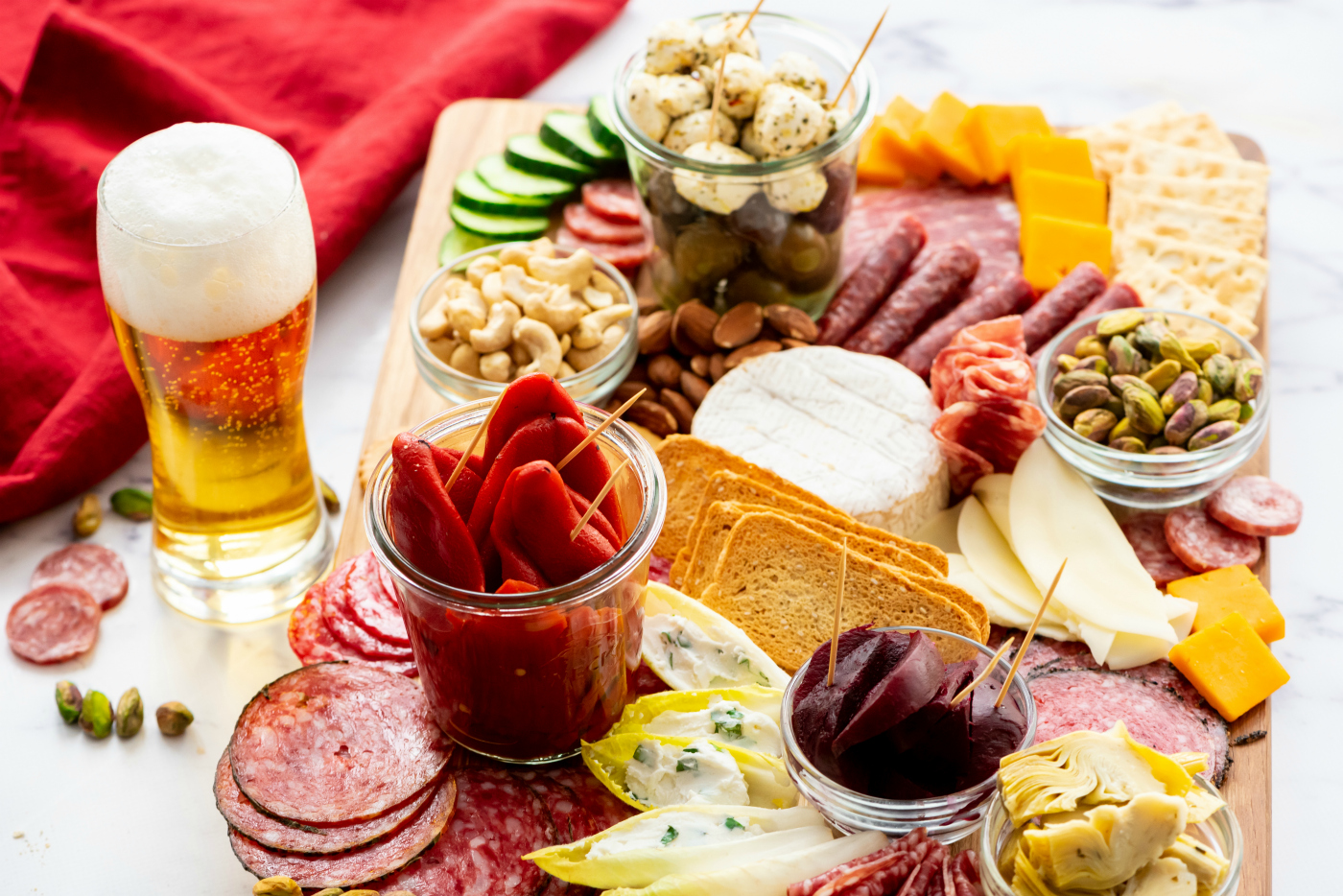 Meat Cheese Olive Charcuterie Board Reluctant Entertainer