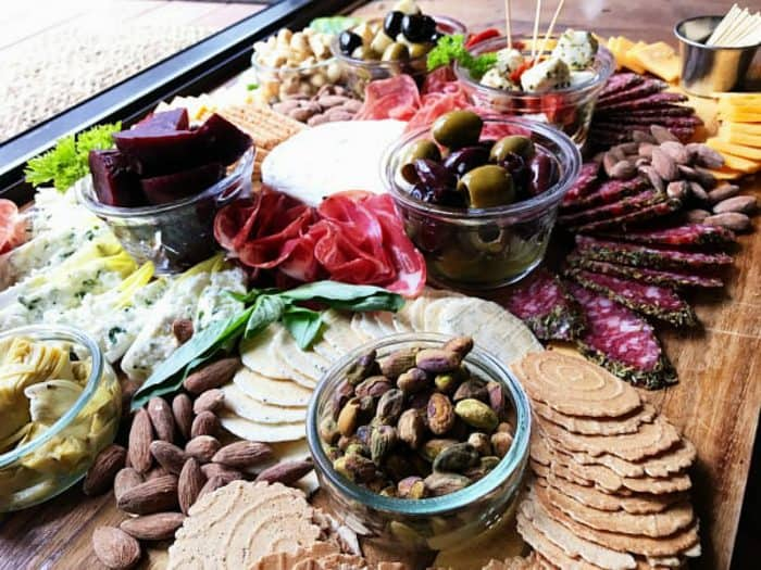 Tasty Meat Cheese Olive Charcuterie Board