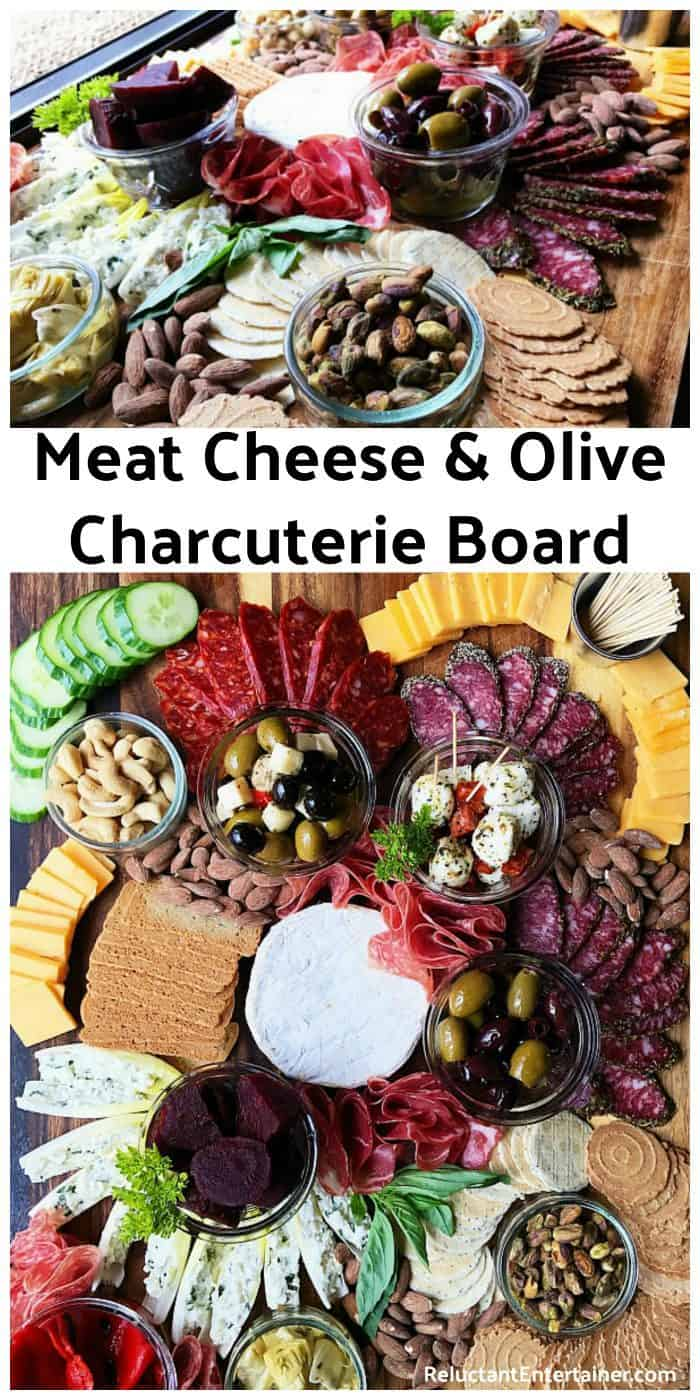 HOW TO MAKE Meat Cheese Olive Charcuterie Board