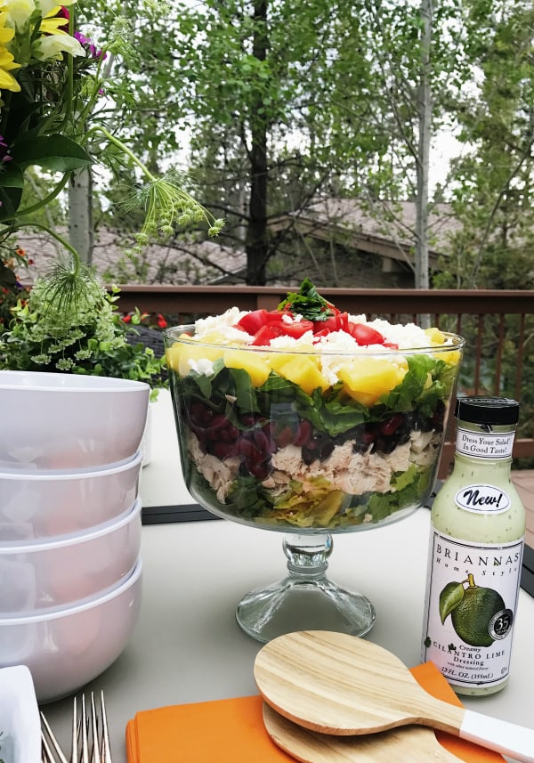 Chicken Pineapple Cilantro Layered Salad
