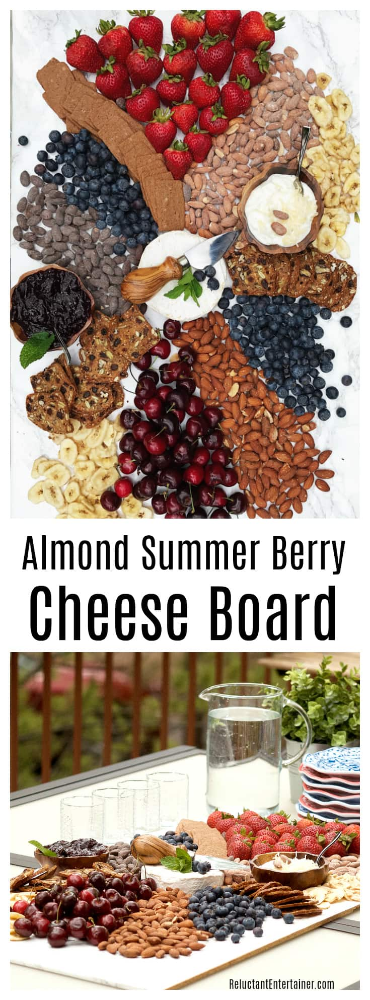 Almond Summer Berry Cheese Board with Blue Diamond Almonds