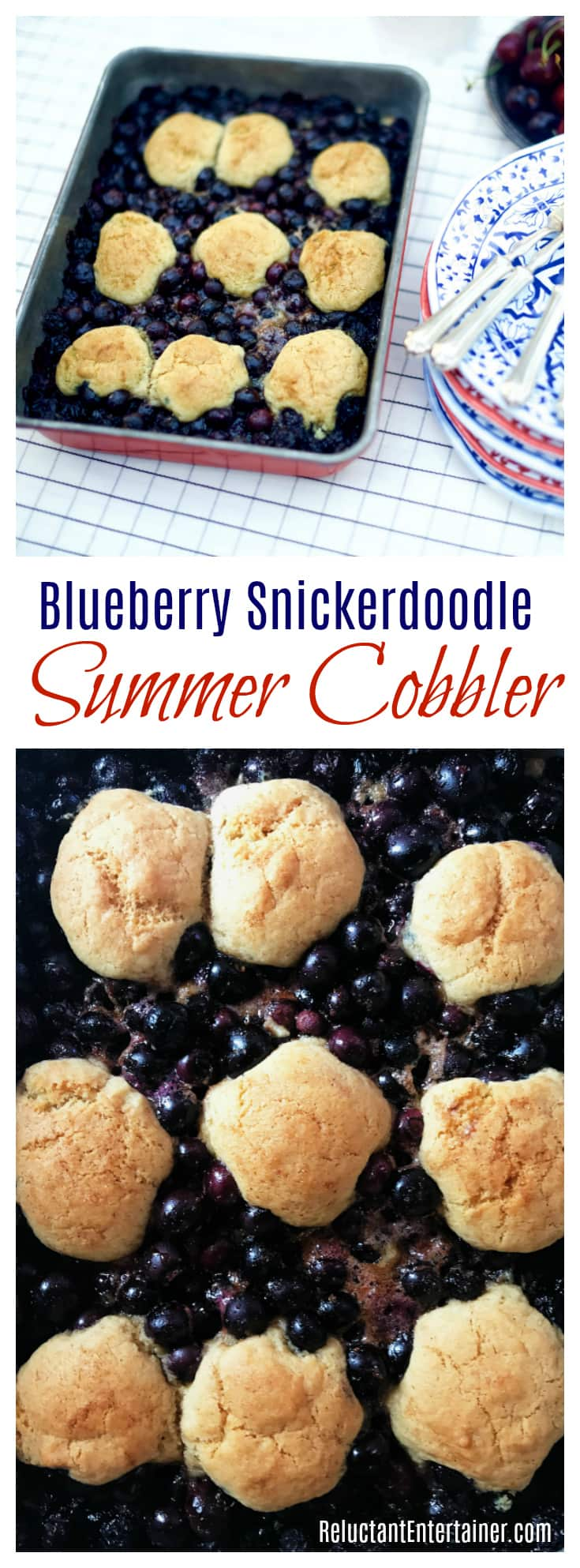 Blueberry Snickerdoodle Summer Cobbler
