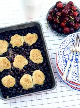 Blueberry Snickerdoodle Summer Cobbler