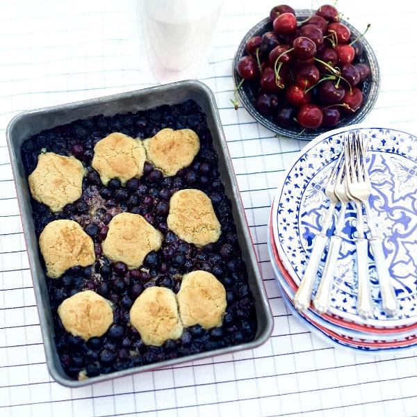 BEST Blueberry Snickerdoodle Summer Cobbler