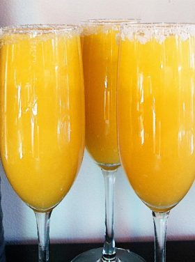 Mango-Orange Bellini Beverage Recipe