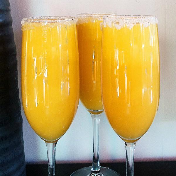 Mango-Orange Bellini Beverage Recipe