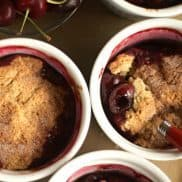 Cherry Cinnamon-Biscuit Cobbler Recipe