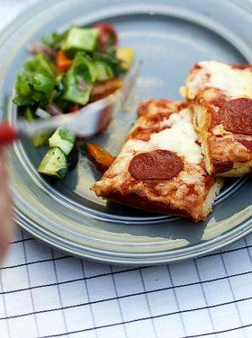 DiGiorno Crispy Pan Pizza with Marinated Summer Veggie Salad