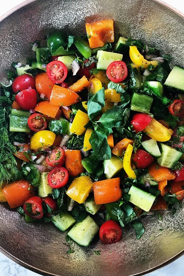 Marinated Summer Veggie Salad