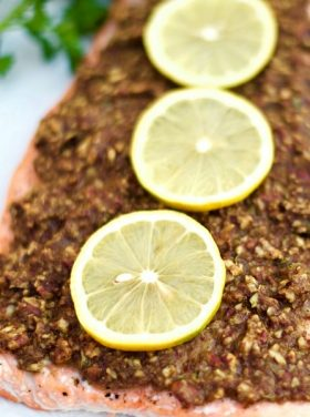Pecan-Dijon Crusted Salmon Recipe