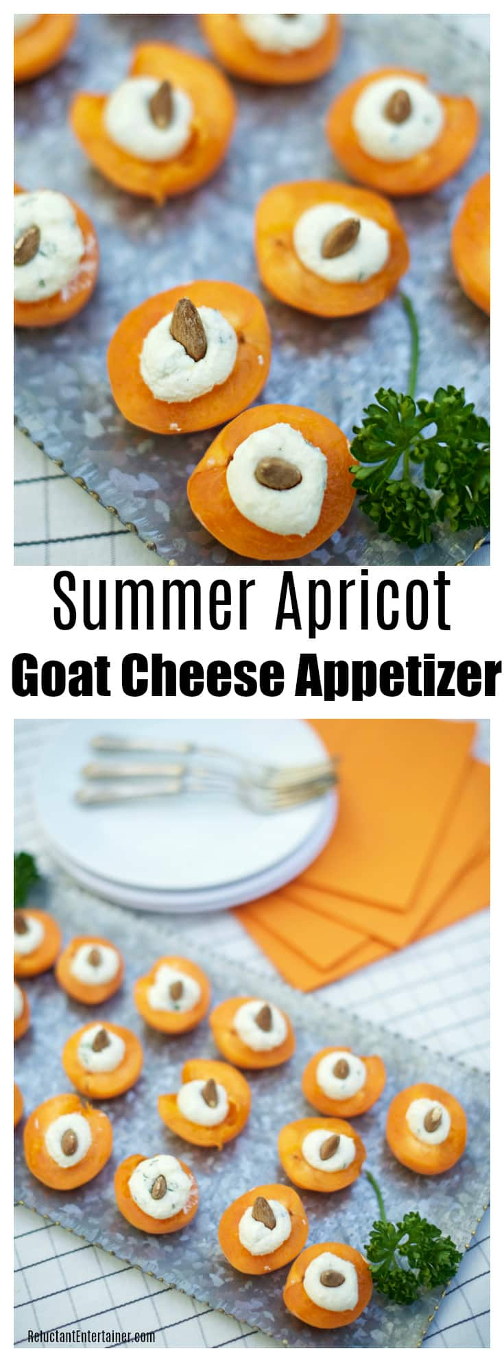Summer Apricot Goat Cheese Appetizer