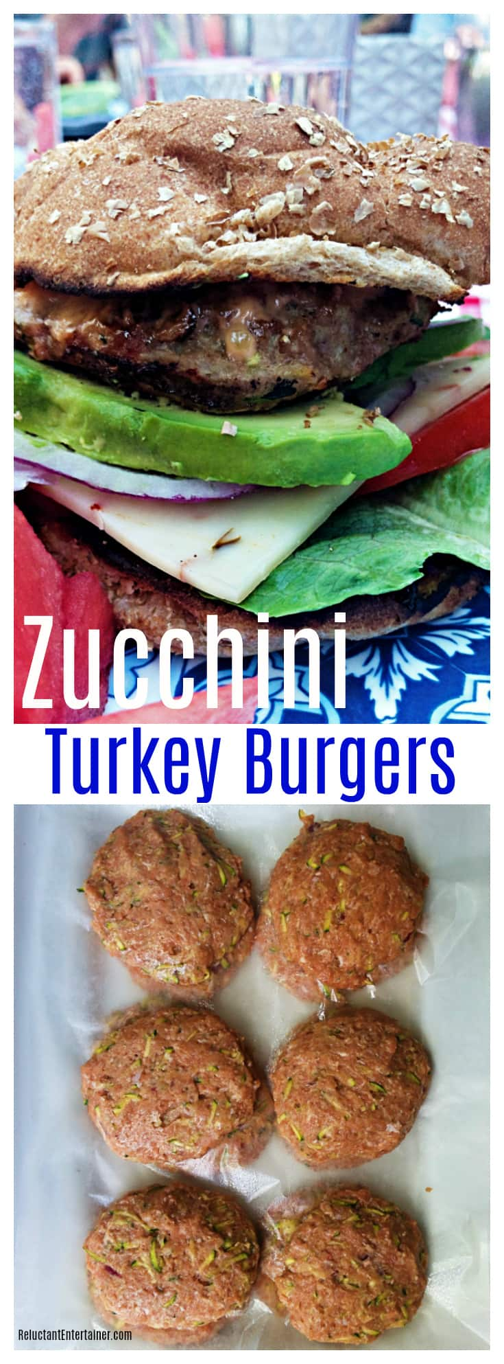 Summer Zucchini Turkey Burgers - Reluctant Entertainer