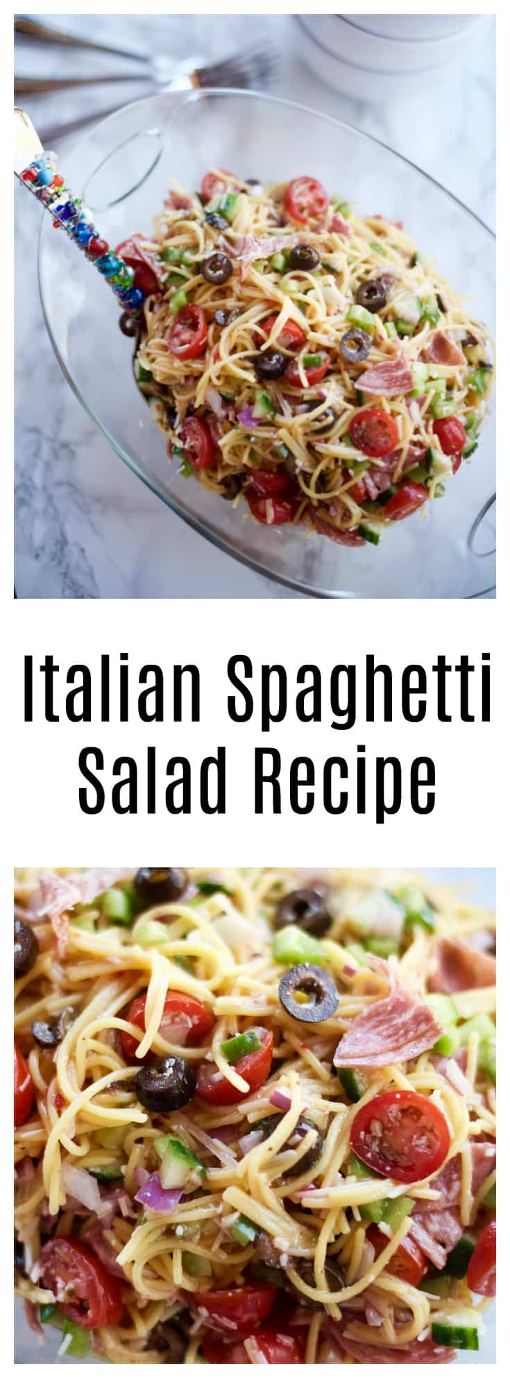 Summer Italian Spaghetti Salad Recipe