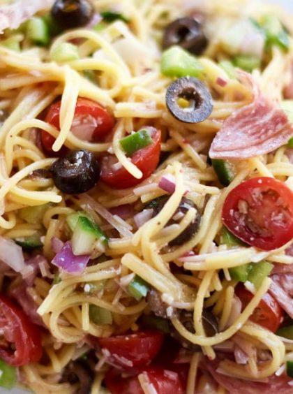Summer Italian Spaghetti Salad Recipe