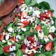 Sriracha Strawberry Spinach Salad