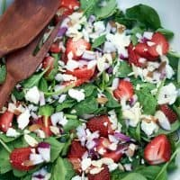 Sriracha Strawberry Spinach Salad
