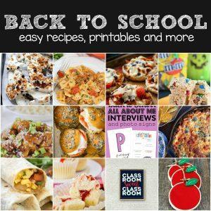 Back To School Fun and Recipe Plan