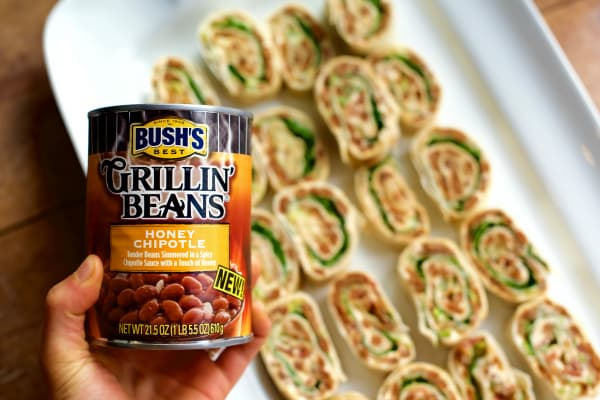 Bacon & Honey Chipotle Bean Pinwheels Recipe